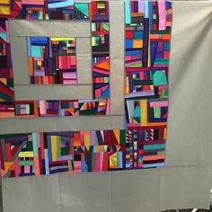 An amazing example of improv quilting by instructor @brittanybowenburton…