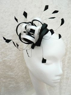 Luxe Satin Black Fascinator