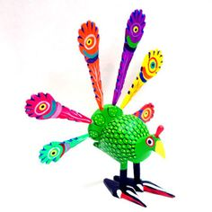 Mexican Alebrijes – Lime Green Peacock