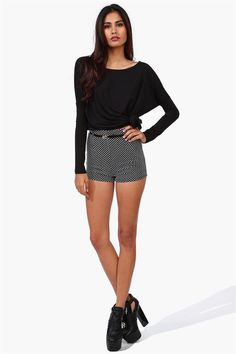 Bauble Shorts in Black/White