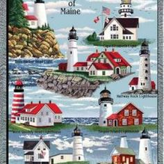 Lighthouses of Maine Art Tapestry Throw Más 25 Beautiful Homes, Maine Lighthouses, Lighthouse Painting, Lighthouse Pictures, Image 3d, Tapestry Weaving, Beach Themes, New Hampshire, Nautical
