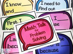 Free Math Talk Poster for Problem Solving and Math Journals for primary students. First Grade Freebies, Kindergarten Freebies, 1st Grade Math, Second Grade, Fourth Grade, Grade 2, Engage Ny Math, Eureka Math, Math Classroom