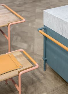 Dining Theatre - Stockholm-based Note Design Studio has created minimal furniture for live cooking demonstrations at the newly opened Mall of Scandinavia. Design Furniture, Cool Furniture, Modern Furniture, Furniture Removal, Furniture Online, Furniture Stores, Note Design Studio, Notes Design, Interior Architecture