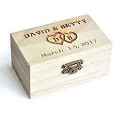 Personalized Wood Wedding Ring Box Custom Decor Marriage