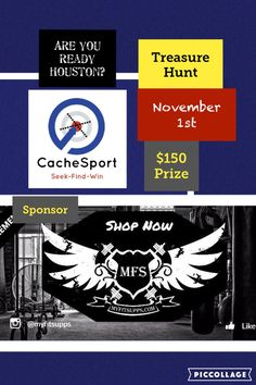 Who wants to win $150? The first Houston CacheSport treasure hunt will begin on November 1st. The prize is worth $150 dollars for finding the hidden CacheSport capsule! Brought to you by our Sponsor: @myfitsupps www.myfitsupps.com ---- Head on over to restock on some supplements! ------------- Must be registered to claim the prize. Head on over to CacheSport website to register! #houston #htown #houstontx #texas #uscg