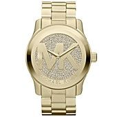 Must Have! :) Michael+Kors+Watch,+Women's+Runway+Gold-Tone+Stainless+Steel+Bracelet+45mm+MK5706