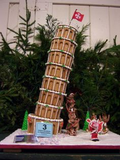 Gingerbread Leaning Tower of Pisa | Cookie Connection