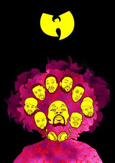 'Wu-Tang Clan Purple Haze' by Geo Law on artflakes.com as poster or art print $17.04