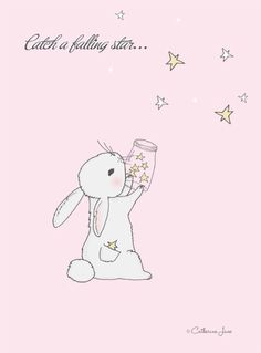 Kawaii *-* shared by かわいい女の子 on We Heart It Tatty Teddy, Dainty Doll, Falling Stars, Bunny Art, Cute Illustration, Nursery Art, Cute Art, Pretty In Pink, Whimsical