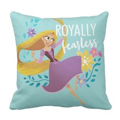 Tangled   Rapunzel - Royally Fearless Throw Pillow. >> Look into even more at the picture