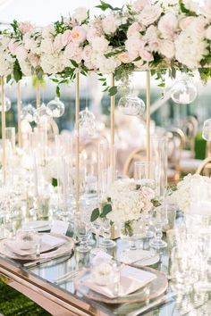 Nov 2019 - A Romantic Garden Wedding Above The Clouds, Between The Beverly Hills Rooftops Garden Wedding Centerpieces, Wedding Flower Arrangements, Flower Bouquet Wedding, Flower Centrepieces, Flower Bouquets, Centerpiece Ideas, Bridal Bouquets, Floral Arrangements, Whimsical Wedding