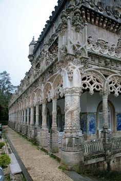 Palace of Bussaco, a Neo-Manueline palace turned hotel in the centre of Portugal.