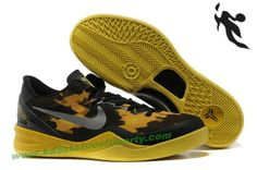 Nike Zoom Kobe VIII 8 Black Maize Mesh yellow basketball shoes Style 555035 720  Soldier