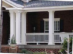 How to Design Porch with Exterior Porch Columns - LightHouseShoppe ...