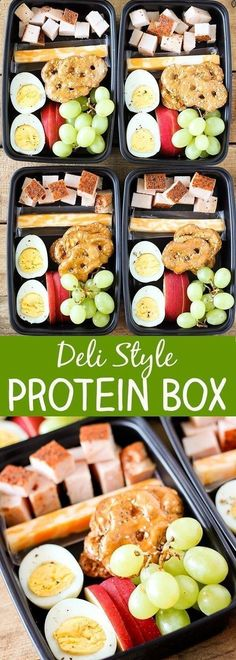 Gotta love easy ideas for snacks and lunches packed with protein, fruit, and vegetables. Bonus, these make great ideas for kid lunches too. #protein #snacks