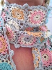 candy colour scarf