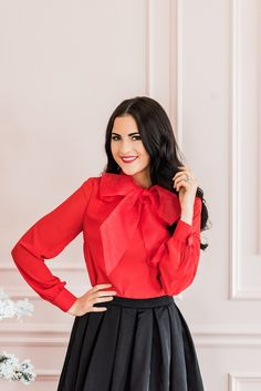 Rachel Parcell I Holly Berry Bow Blouse