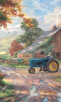 "ART~ ""Can I Come Up? . . . Want To Come Too"" ~ Thomas Kinkade"