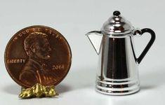 Dollhouse Miniature Silver Coffee Pot by Chrysnbon   eBay