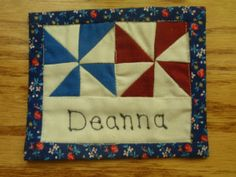 Quilted Name Tag and Lanyard | Guild, There and The guild : quilt shop names - Adamdwight.com