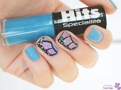 nail-art-borboleta : via Tudo Make – Maior blog de maquiagem, beleza e tutoriais de Curitiba.