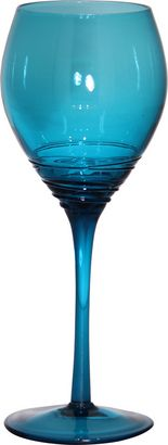 Cordelia Wine Glass - Turquoise..would perfectly match my kitchen!