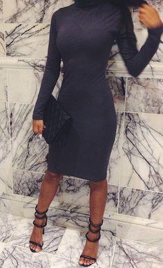 Lethalbeauty ? turtle neck midi length bodycon dress #dress #buyable