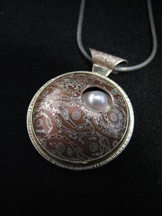 Mokume Gane, Gold, Silver and Akoya pearl