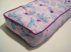 Doll mattress tutorial. Uses stuffing instead of foam