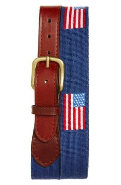 Smathers & Branson 'American Flag' Needlepoint Belt
