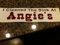 Clean the Sink at Angies!    #buyahomeinutah #www.buyahomeinutah.com #remax #remaxmetro #remaxutah #utahrealestate #realestate #homes #home #house