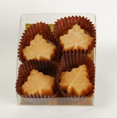 4 Maple sugar candies in clear box ~ can be custom labeled for wedding favours or perfect as a hostess gift! $2.75 CDN