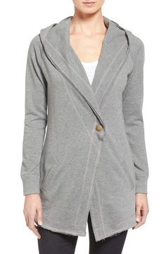 A go-to hoodie is transformed for fall into this long, shawl-collar jacket. So perfect for chilly nights; courtesy of the #NSale!