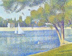 Georges Seurat: 1888 La Seine à la grande Jatte, printemps…   Flickr