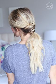 twisted ponytail easy hairstyle hairstyles blonde hair low ponytails