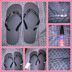 Seen the bling flip flips in several stores and all were $10 and above. Seen the same flip flop with nothing on it for $0.98 at Walmart and remembered i had some bling at home. Tada!!!