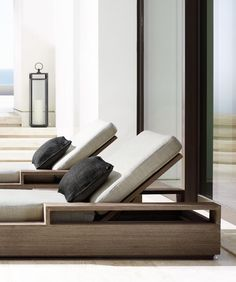 Outdoor lounge from the Marbella Collection by RH