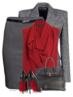 """""""Sonie"""" by sonies-world ❤ liked on Polyvore featuring Balmain, H&M, Lanvin, Hermès and Christian Louboutin"""