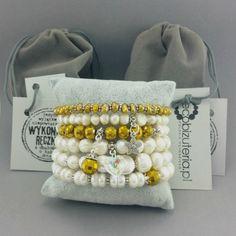 Bransoletka perły naturalne ecru złoty kryształek Bags, Malachite, Handbags, Totes, Lv Bags, Hand Bags, Bag, Pocket