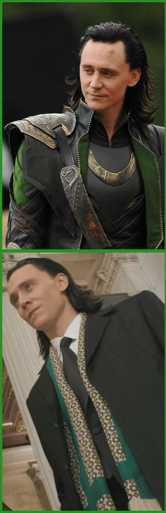 Loki - (The Avengers) - armor vs. suit. (I only like the top photo... a much sweeter face)