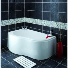 Wickes Wave Corner Bath Right Hand White 1500mm | Wickes.co.uk