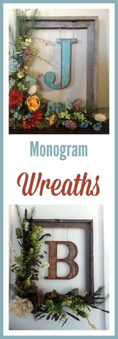 Monogram ideas for the home | modern farmhouse decor | rustic wreath ideas farmhouse style #affiliate