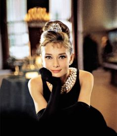 Audrey Hepburn in Breakfast at Tiffany's. The Iconic Upstyle that flatters any face shape. Most Glamorous Old Hollywood Hairstyles and the face shapes that these hairdos flatter