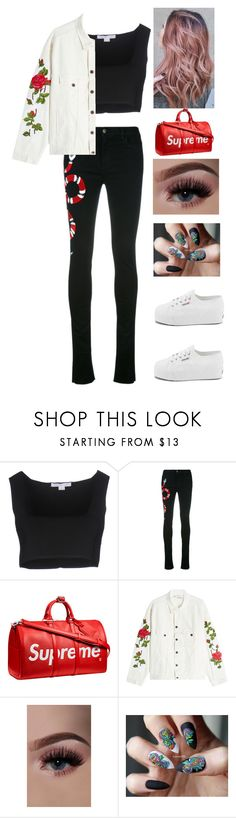 """""""😄"""" by sh1004an on Polyvore featuring Alexander Wang, Gucci, Louis Vuitton, Off-White and Superga"""
