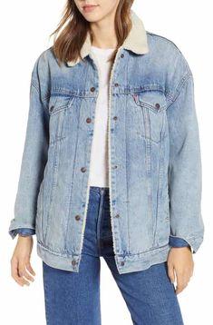e360113e56c Levi s® Oversize Faux Shearling Lined Trucker Jacket