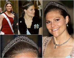 The Small Cut Steel Tiara: Victoria debuted a second, smaller steel tiara. This smaller tiara apparently belongs to the Napoleonic Steel parure, and it also have a matching hair-comb.