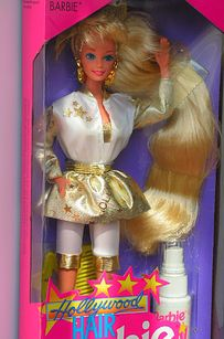 Hollywood Hair Barbie | 18 Barbie Dolls From The '80s And '90s That Are Worth A Fortune Now. Shoot, now I wish I hadn't chopped her hair off when the water spray quit changing her hair color! LOL