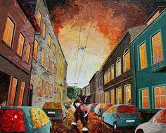 Artista polonês usa papel e cola em quadros que parecem a tinta a óleo  Artista polonês usa papel e cola em quadros que parecem a tinta a óleo  Artista polonês usa papel e cola em quadros que parecem a tinta a óleo  Artista polonês usa papel e cola em quadros que parecem a tinta a óleo