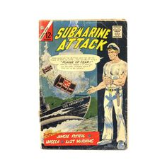Submarine Attack Vintage 1965 Charlton Comic by SunStateVintage