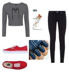 """Untitled #16"" by complicated-username on Polyvore featuring Topshop, Vans, Paige Denim, women's clothing, women, female, woman, misses and juniors"
